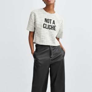 SALE‼️NWT Zara Not a Cliche textured Top